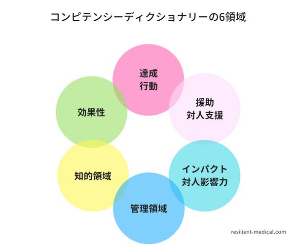 コンピテンシーディクショナリー6領域の概念図