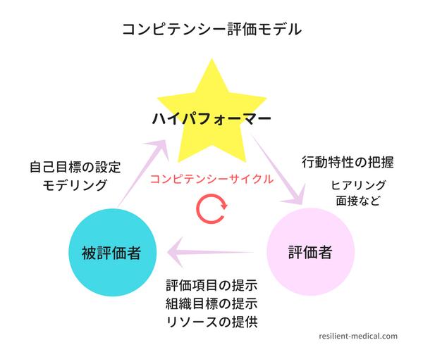 コンピテンシー評価の概念図