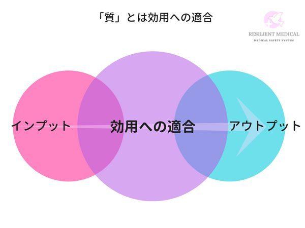医療や看護の質を説明する概念図