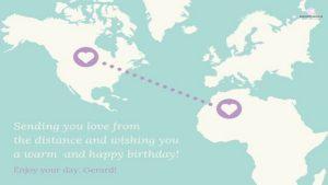 世界地図と交信